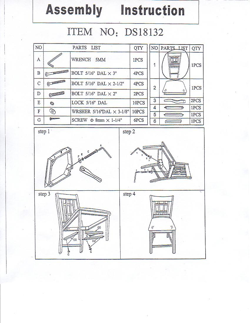 How to assemble a chair