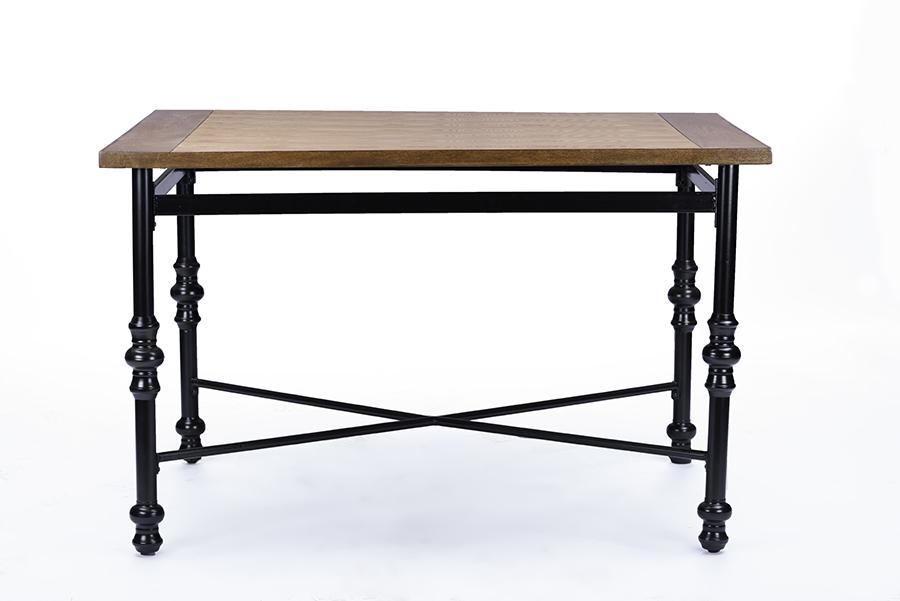 Broxburn Wood & Metal Dining Table | Baxton Studio