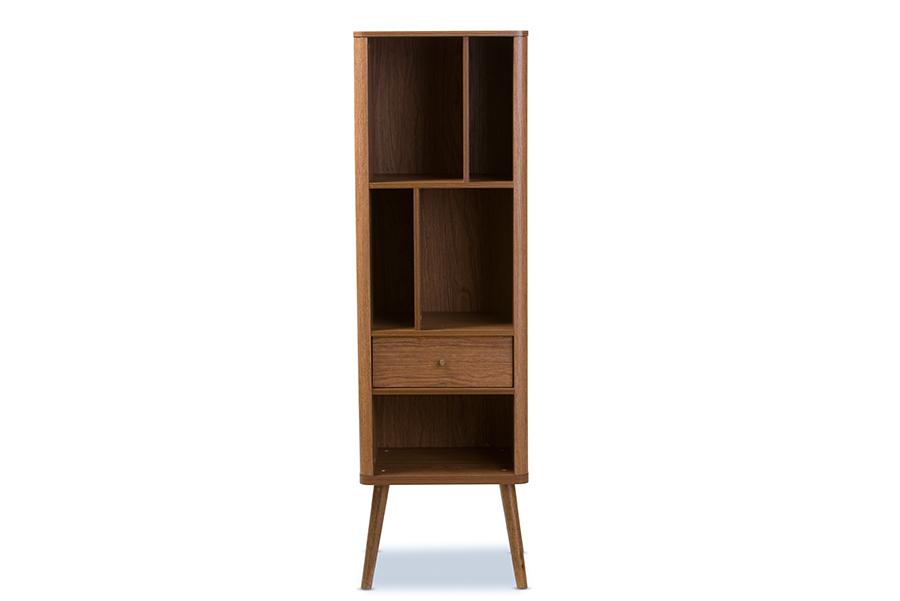 Ellingham Retro 1 drawer Sideboard Storage Cabinet Bookcase Organizer | Baxton Studio