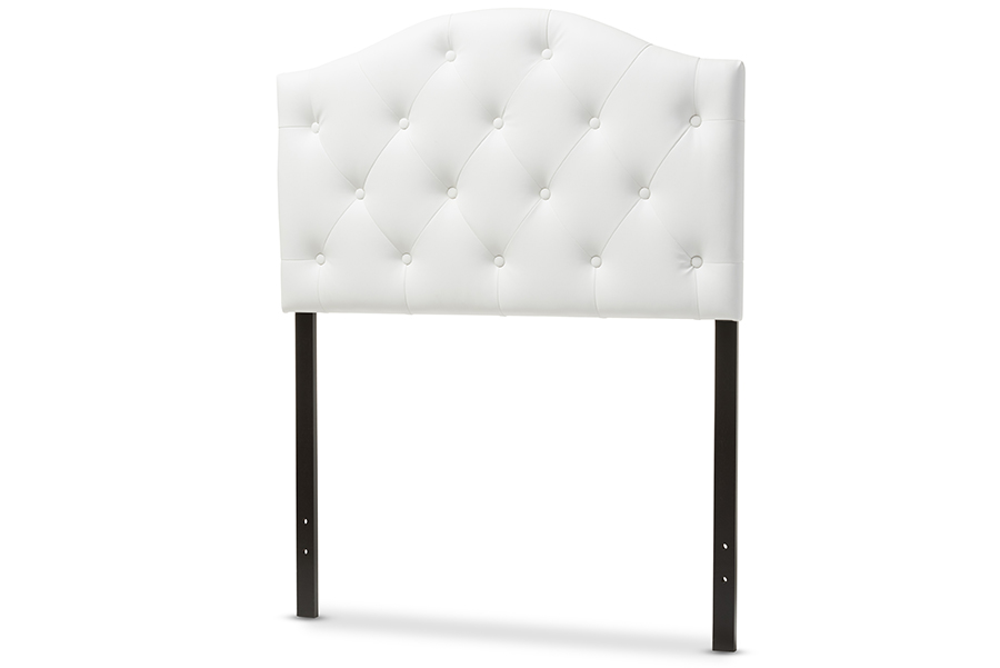 Baxton Studio Myra Modern and Contemporary Full Size White Faux Leather Uphol...