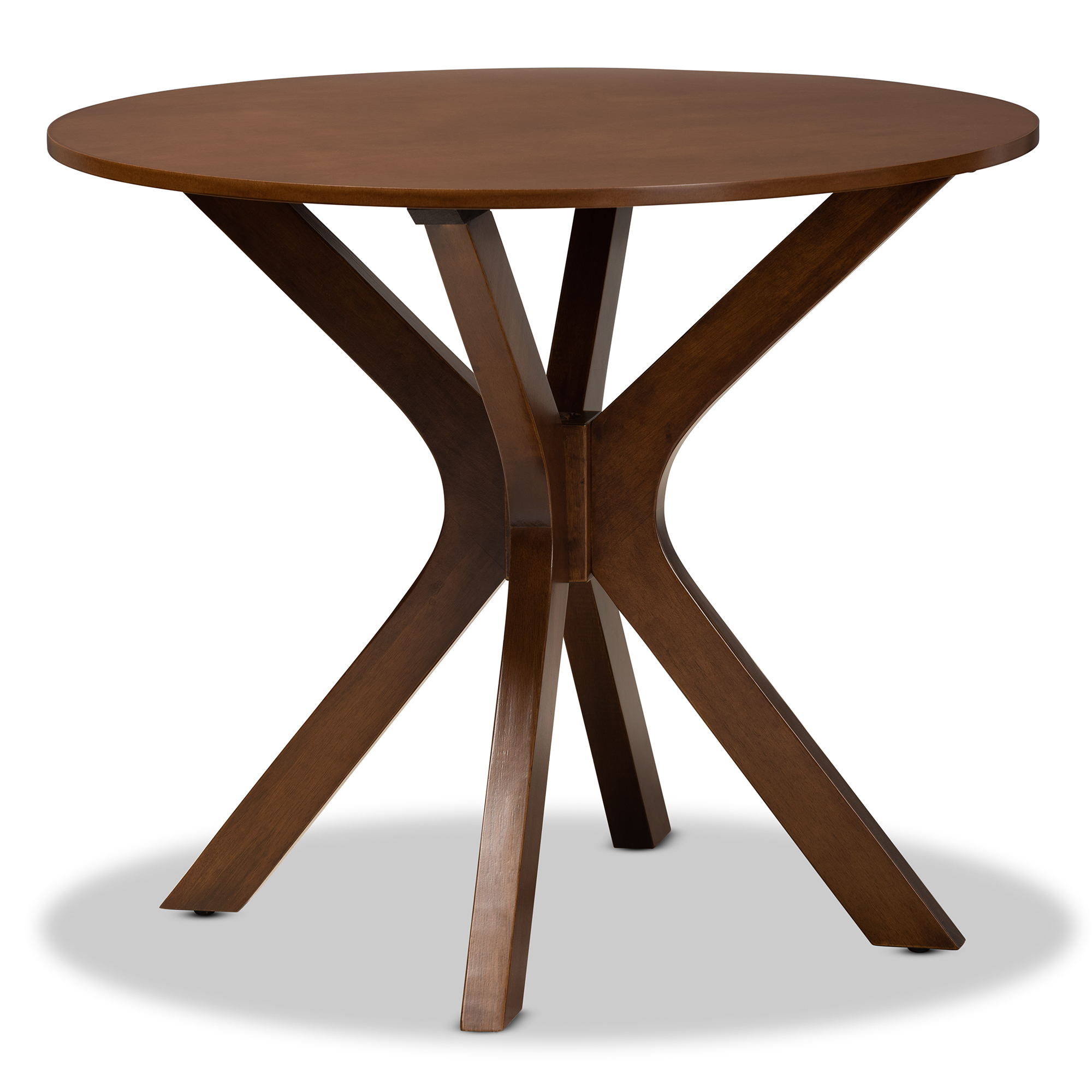 Baxton Studio Kenji MDF Dining Table - Walnut