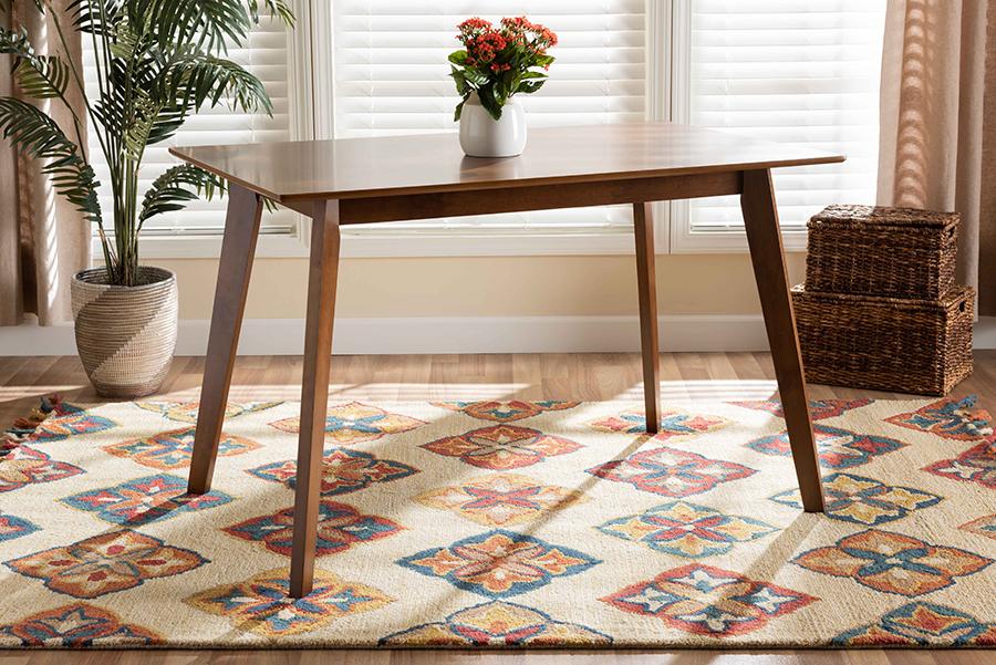 Maila Walnut Wood Dining Table | Baxton Studio