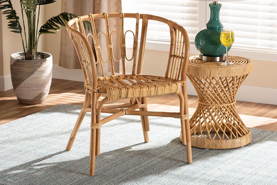 Luxio Natural Rattan Dining Chair | Baxton Studio