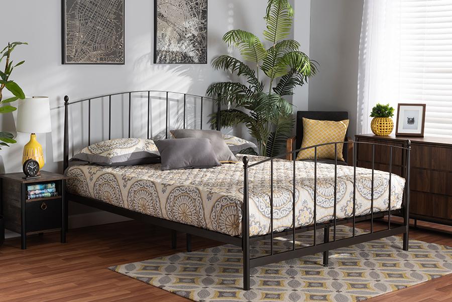 Lana Black Metal Full Platform Bed | Baxton Studio
